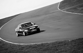 On the track at Anglesey